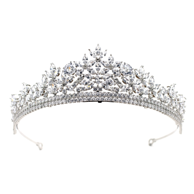 CUBIC ZIRCONIA COLLECTION - STARLET DIVINE TIARA - AHB72