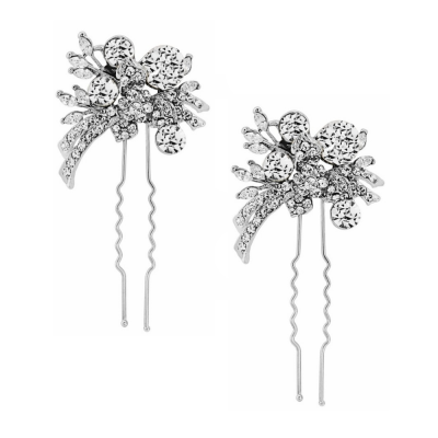 ELITE Extravagance Hair Pins - Clear Crystal (Pin 23)