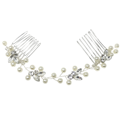 ATHENA COLLECTION - DAINTY PEARL VINE - SILVER (HP160)