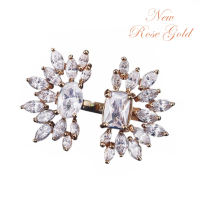 CUBIC ZIRCONIA COLLECTION - STARLET CRYSTAL ADJUSTABLE RING