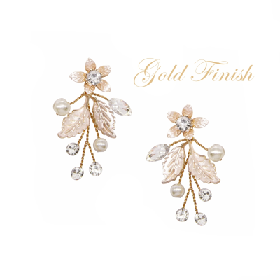 ATHENA COLLECTION - FLORAL ROMANCE EARRINGS - GOLD - ER495