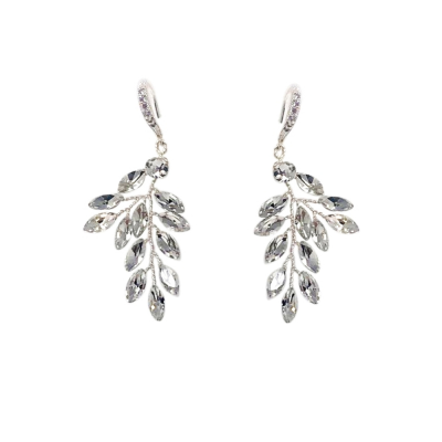 ATHENA COLLECTION - CHIC VINE EARRINGS - (ER489)SILVER
