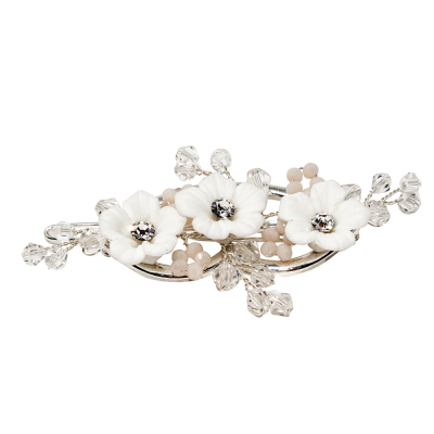 ATHENA COLLECTION - CHARLOTTE LUXE HAIR CLIP - CLIP 753 (SILVER)