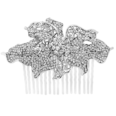 Crystal Treasure Hair Comb - Clear (Hc54)