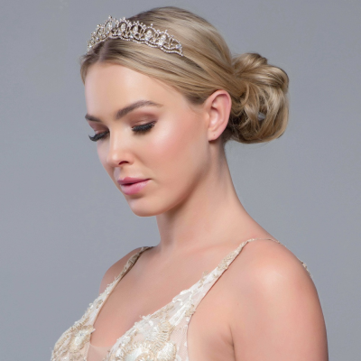 SASSB COLLECTION - JEWEL TIARA - ROSE GOLD
