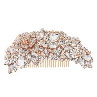Exquisite Bridal Hair Comb - (HC6) ROSE GOLD