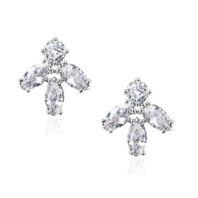 CUBIC ZIRCONIA COLLECTION - DAINTY DAZZLE EARRINGS - CZER532