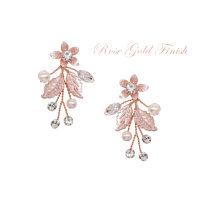 ATHENA COLLECTION - FLORAL ROMANCE EARRINGS - ROSE GOLD - ER495