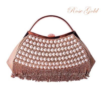 ATHENA COLLECTION - GATSBY GLAM BAG - ROSE GOLD