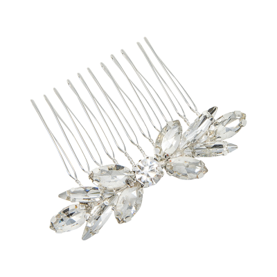 ATHENA COLLECTION - DAINTY DIVINE HAIR COMB - HC197 - SILVER