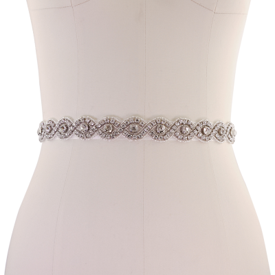 ATHENA COLLECTION - VINTAGE INSPIRED BRIDAL BELT 16 (IVORY )