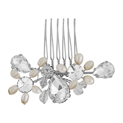 Crystal Bridal Hair Comb - Silver (HC38)