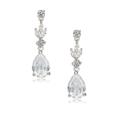 CUBIC ZIRCONIA COLLECTION - CRYSTAL SPARKLE EARRINGS - CZER431