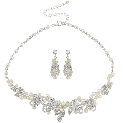 ATHENA COLLECTION - VINTAGE INSPIRED PEARL NECKLACE SET - NK137