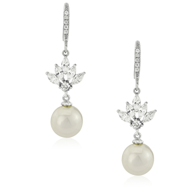 CUBIC ZIRCONIA COLLECTION- CRYSTAL ELEGANCE EARRINGS - CZER407