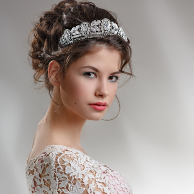 CUBIC ZIRCONIA COLLECTION - STARLET GLAM TIARA - AHB111