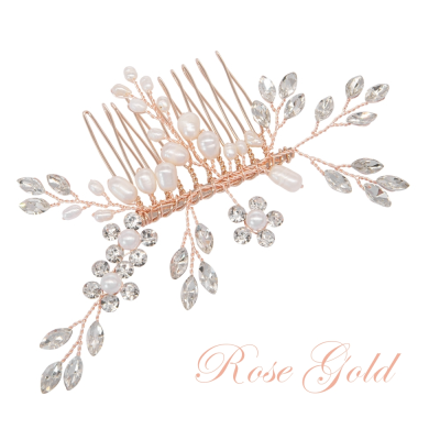 ATHENA COLLECTION - SIMPLY CHIC HAIR COMB - HC220 ROSE GOLD