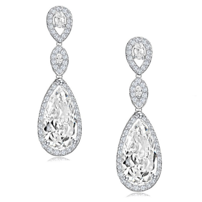 CUBIC ZIRCONIA COLLECTION - CRYSTAL SPLENDOUR EARRINGS - CZER393