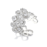 CUBIC ZIRCONIA COLLECTION - CRYSTALLURE COCKTAIL RING - SILVER
