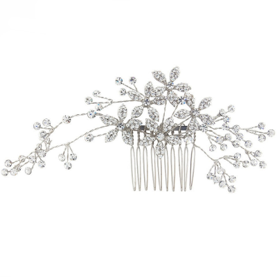ATHENA - Sparkly Crystal Extravagance Comb - SILVER  HC141
