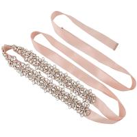 ATHENA COLLECTION - BEJEWELLED BRIDAL BELT - BELT 15 - ROSE PINK