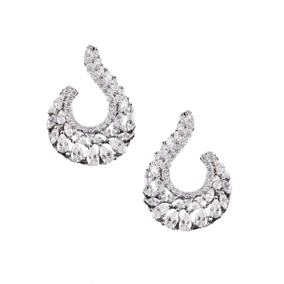 CUBIC ZIRCONIA COLLECTION - EXQUISITE STARLET EARRINGS - CZER442