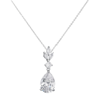 CUBIC ZIRCONIA COLLECTION - SIMPLY SPARKLE NECKLACE - NK129- SILVER