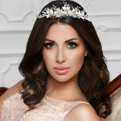 SASSB COLLECTION -  SILVER EXTRAVAGANCE TIARA -