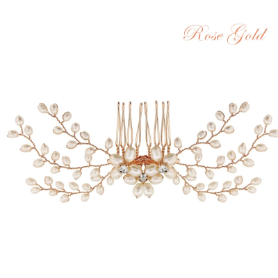 ATHENA COLLECTION - DELICATE PEARL COMB - HC154 ROSE GOLD