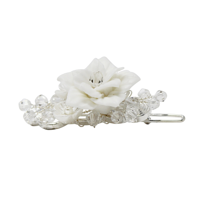 ATHENA COLLECTION - VINTAGE CHIC HAIR CLIP - CLIP 754 (SILVER)