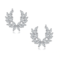 CUBIC ZIRCONIA COLLECTION - GLITZY SPARKLE EARRINGS - CZER469