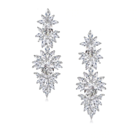 CUBIC ZIRCONIA COLLECTION - DAZZLING STARLET EARRINGS - CZER451