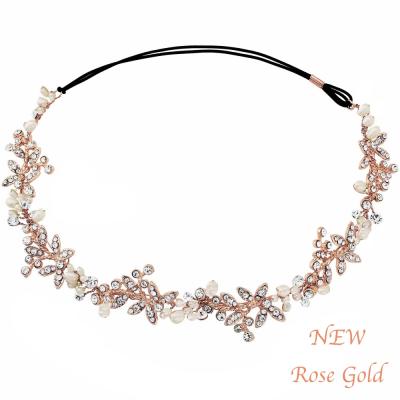 Luxe Embellished Hairvine - ROSE GOLD SASSB (RG)