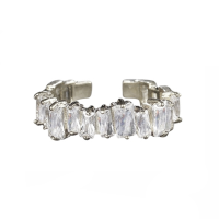 ATHENA COLLECTION - DIVINE CRYSTAL RING - ADJUSTABLE - SILVER