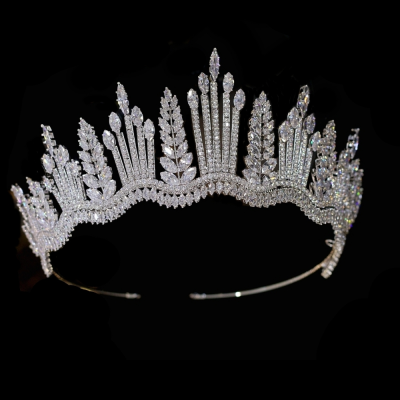 CUBIC ZIRCONIA COLLECTION - CRYSTAL RADIANCE TIARA AHB-43