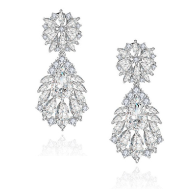 CUBIC ZIRCONIA COLLECTION - HOLLYWOOD GLAM EARRINGS - CZER395