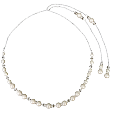 SASSB COLLECTION - LUXE PEARL  BACK DROP NECKLACE SET - BN5