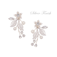 ATHENA COLLECTION - FLORAL ROMANCE EARRINGS - SILVER - ER495