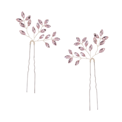 ATHENA COLLECTION - GLITZY GLAM HAIR PINS - BLUSH PINK (HP40)