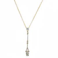 CUBIC ZIRCONIA COLLECTION - DAINTY SPARKLE NECKLACE - CZNK40 GOLD