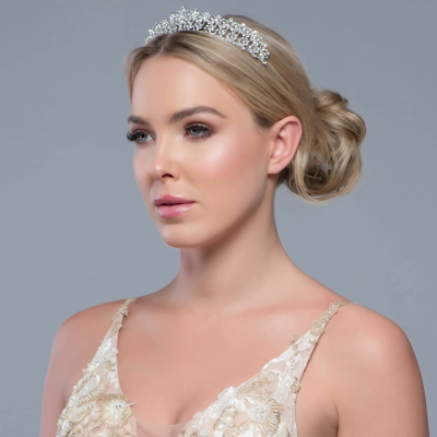 SASSB COLLECTION - CHRISTABEL LUXE TIARA 17 - SILVER