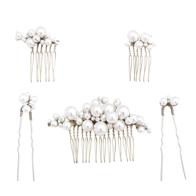 ATHENA COLLECTION - CHIC HAIR PIN SET - SILVER PIN 41