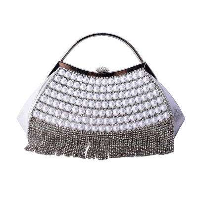 ATHENA COLLECTION - GATSBY GLAM BAG - SILVER