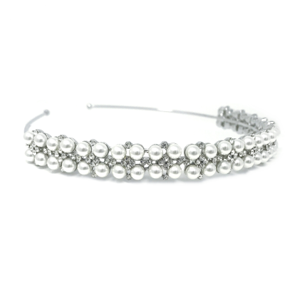 ATHENA COLLECTION - PEARL CLUSTER HEADBAND - ABH-8