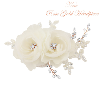 BLOSSOM HEADPIECE - LUXE CRYSTAL HAIR COMB - SASSB ROSE GOLD