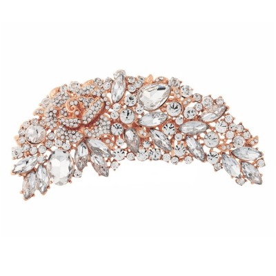 EXQUISITE BRIDAL BROOCH - ROSE GOLD (BROOCH 6)