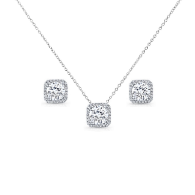 CUBIC ZIRCONIA COLLECTION - CHIC CRYSTAL NECKLACE SET  - CZNK67