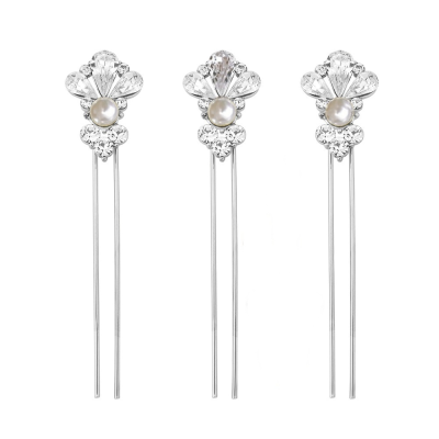SASSB COLLECTION - EXQUISITE STARLET PEARL HAIR PIN SET - SASSB