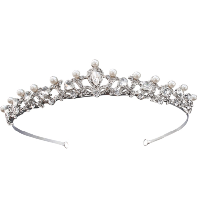 ATHENA COLLECTION - CHIC PEARL TIARA - AHB34