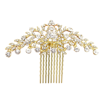 ATHENA COLLECTION - CRYSTAL DIVINE HAIR COMB - GOLD (HC188)